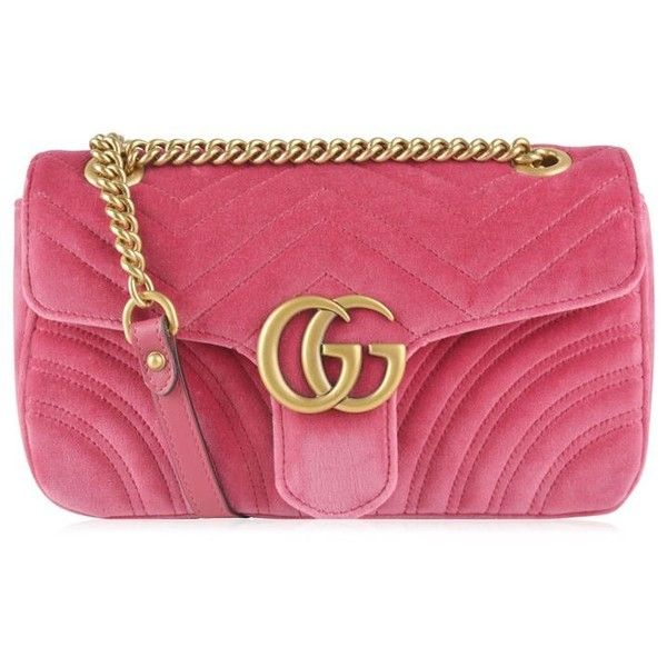 GG Marmont embroidered shoulder bag - Pink & Purple Gucci 12WTk7L