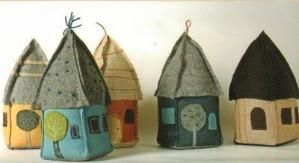 tiny houses in felt. by ExperienceVintage by PennyLane