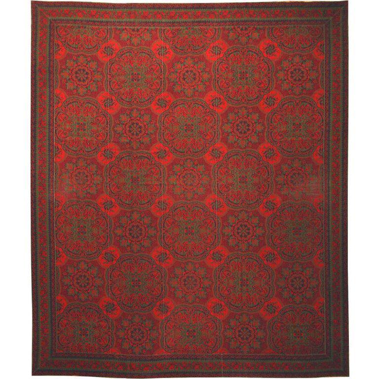 Antique arts and crafts english wilton carpet antique