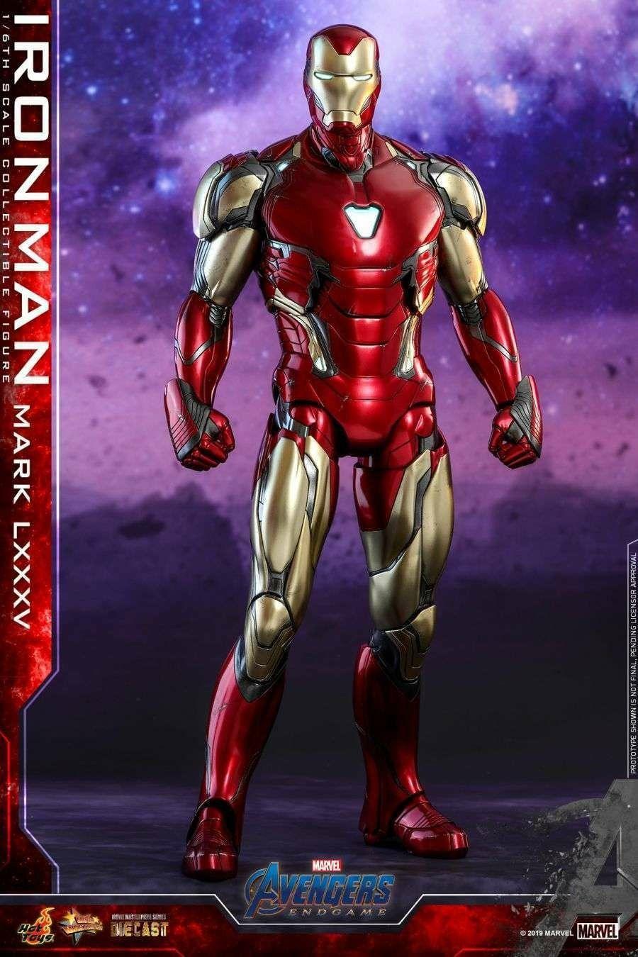 Iron Man Lxxxv Avengers Endgame 2019 Hot Toys Classic Comic Suit Iron Man Armaduras Personajes De Marvel Figuras De Marvel