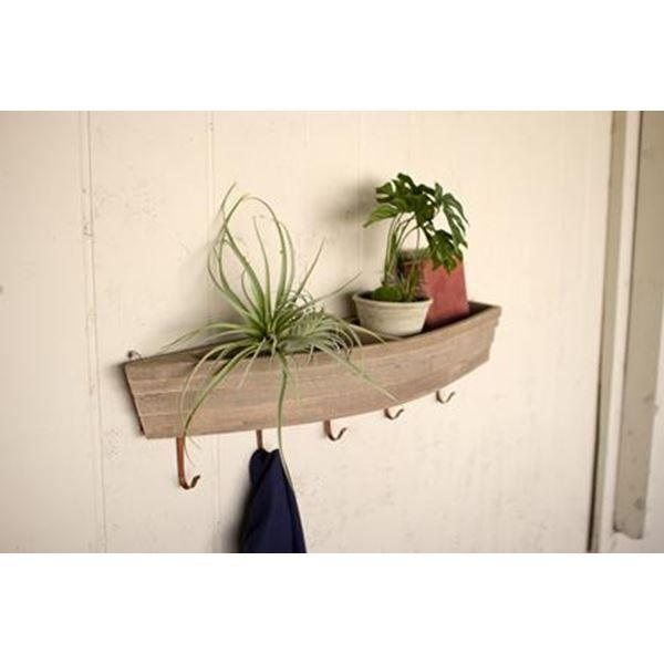 Wooden Boat Shelf And Hooks At Seasideinspired.Com Beach Ocean