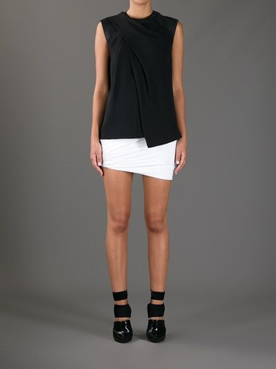 ALEXANDER WANG - draped neck muscle tee