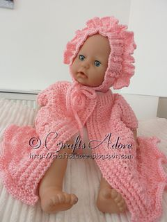Knitted baby girl layette newborn to 3mts… free pattern