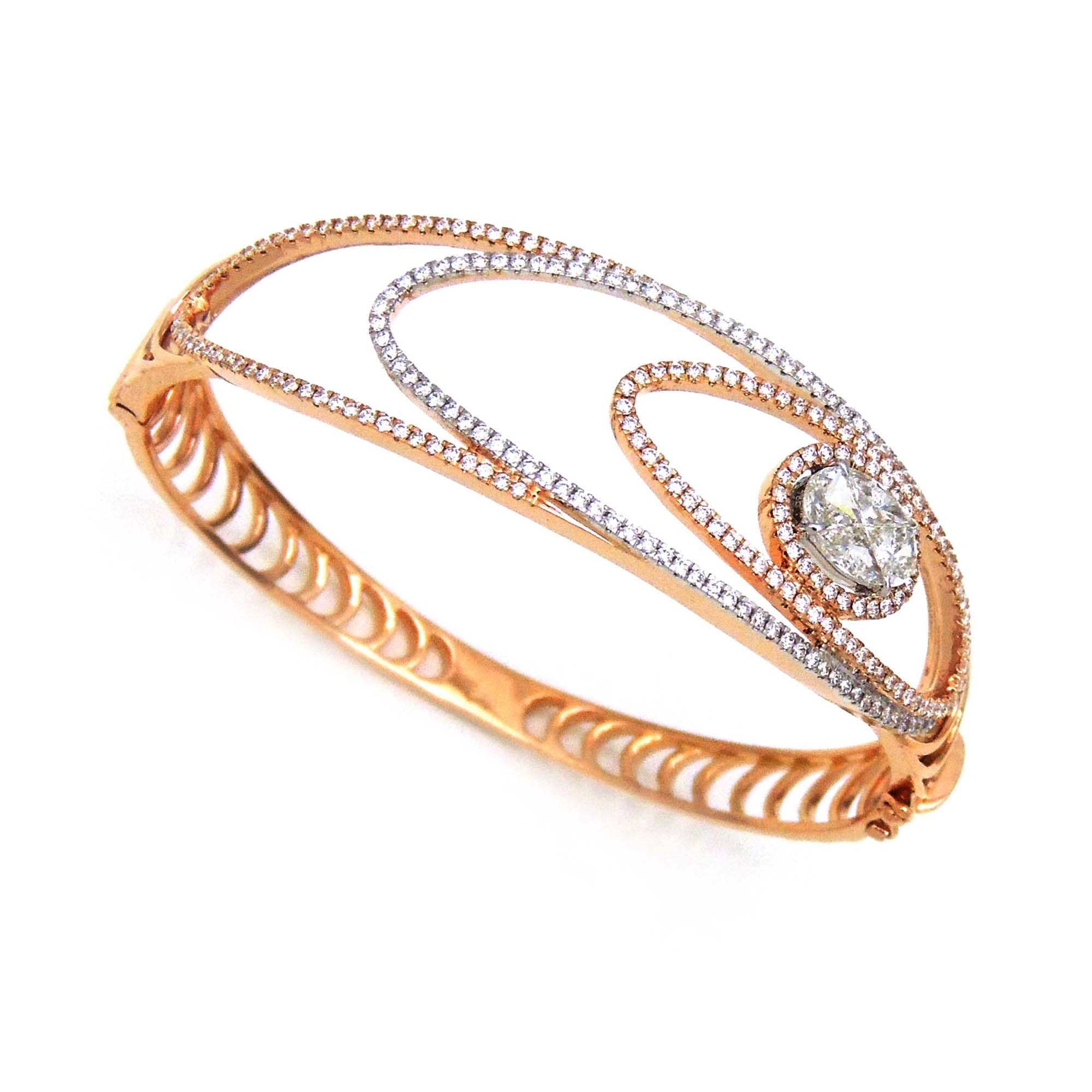 platinum fine jewelry semi baguette jewelers precious bangles london bangle collection rose bracelet stackable diamond gold bracelets