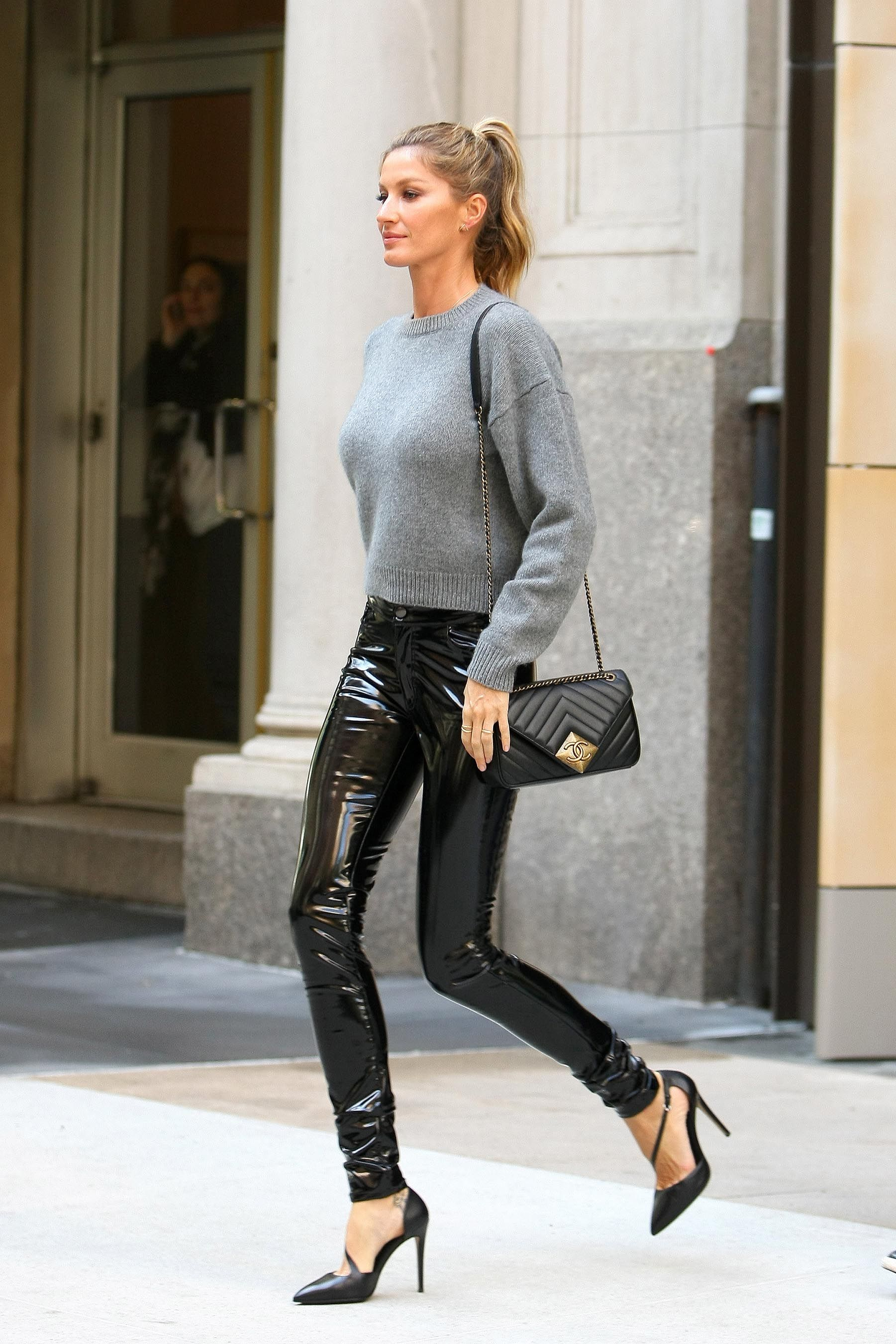 Gisele Sports Buzz Cut, Leather Boots for New BalenciagaCampaign