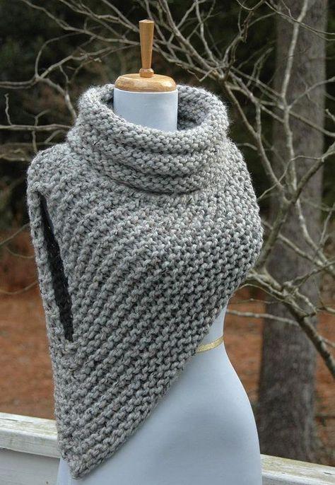 Knitting Pattern - Katniss Cowl Huntress Vest   Muster stricken ...