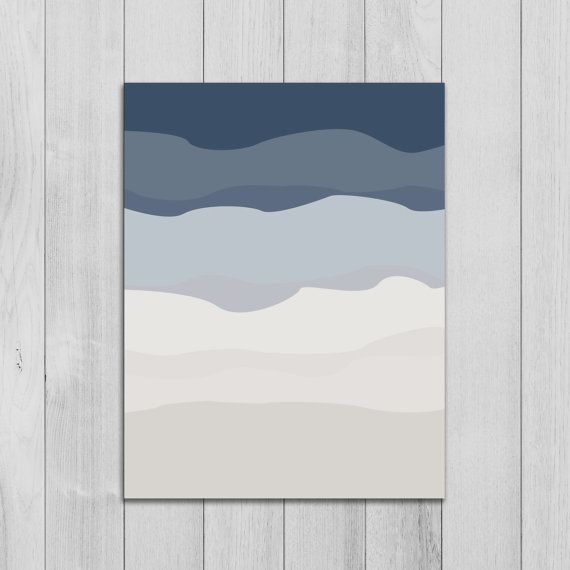 Abstract Print Nursery Wall Art Minimalist by PrintsbyJettyHome