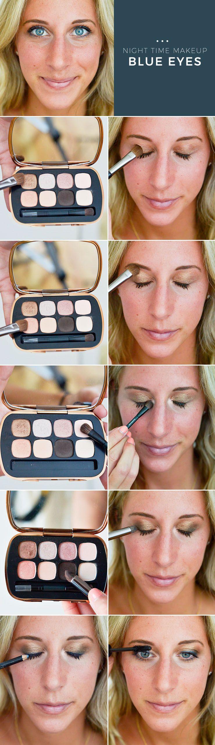 Night makeup for blue eyes makeup tutorial eye makeup gold eye night makeup for blue eyes makeup tutorial baditri Image collections