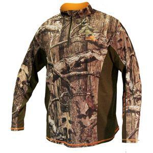 mossy oak men s infinity 1 4 zip performance layer camo on uninsulated camo overalls for men id=43453
