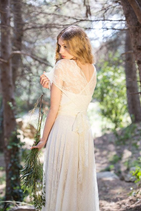 Bridal gown, lace wedding dress, bride lace dress, marriage, boho ...