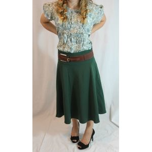 Which Way Belt with Circle skirt and Orchard Fields blouse