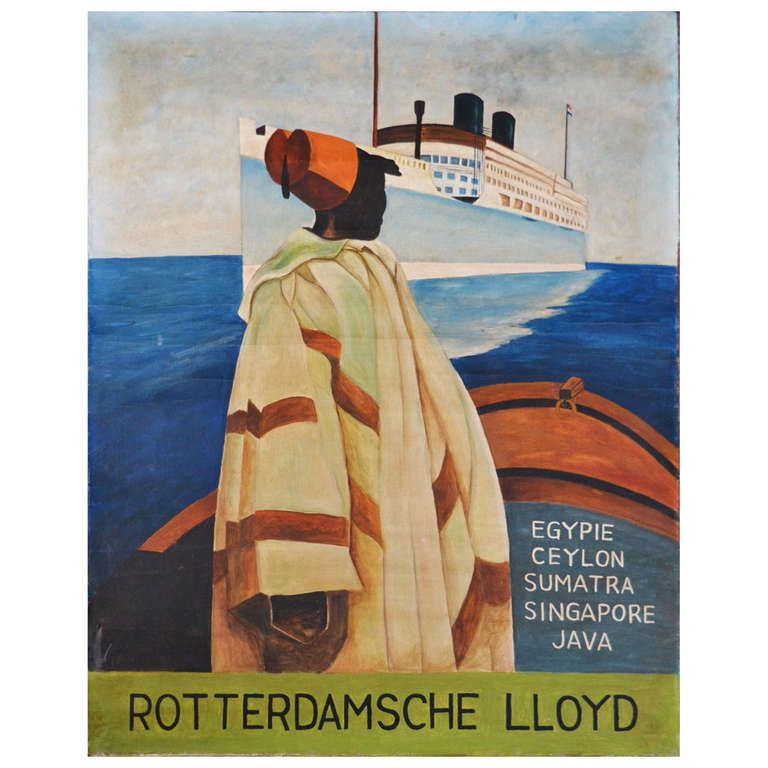 "Rotterdamsche Lloyd Steamer ""Patria""- Painted Poster Only This Saturday Sale 