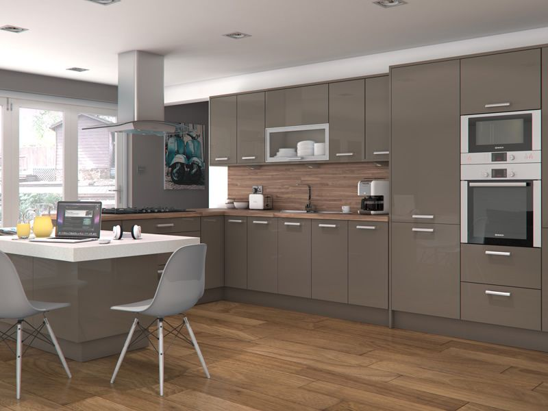 Altino stone grey kitchens buy altino stone grey kitchen for Kitchen units grey gloss