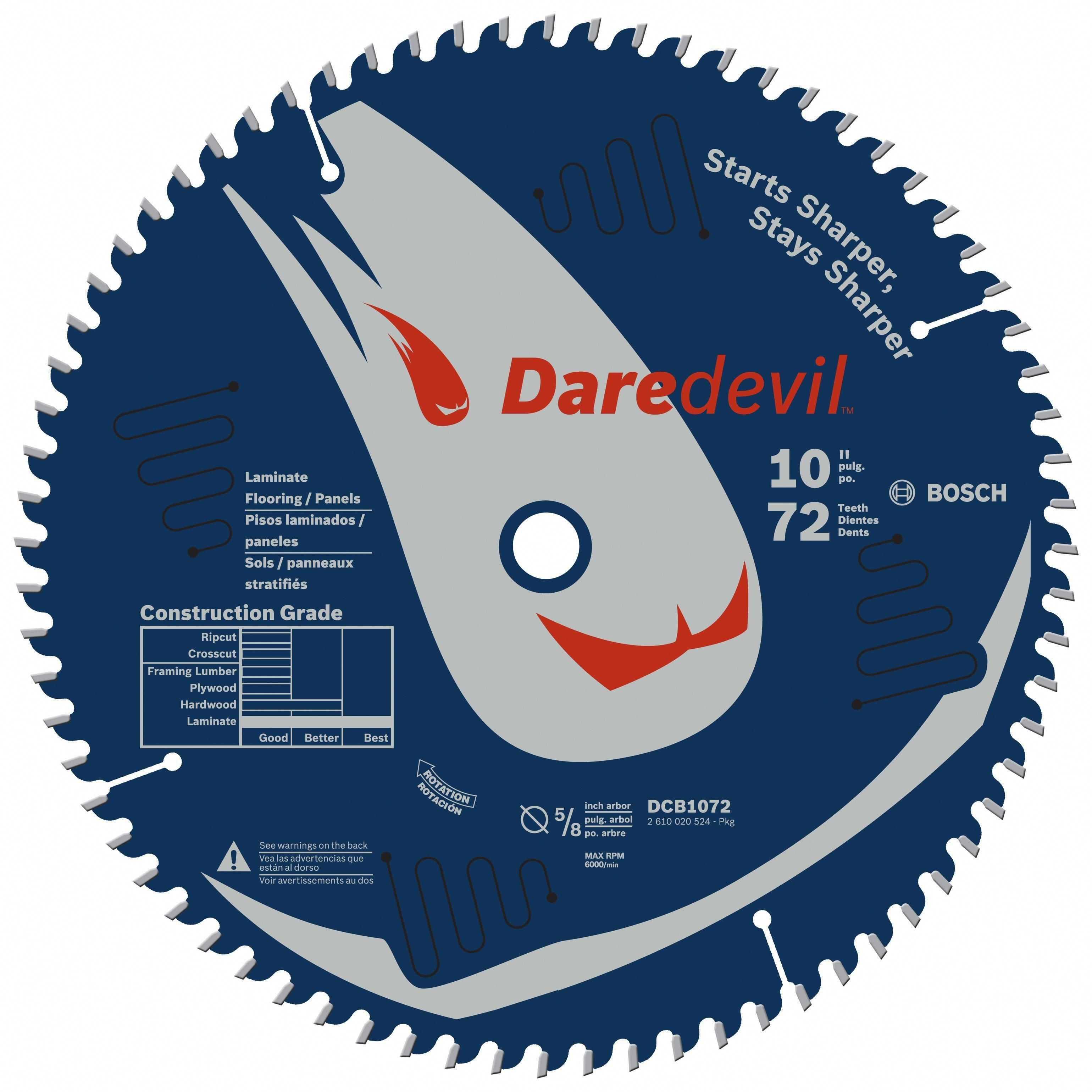 Daredevil 72 Tooth Table And Miter Saw Blade Mitersaw Circular Saw Blades Saw Blade Table Saw
