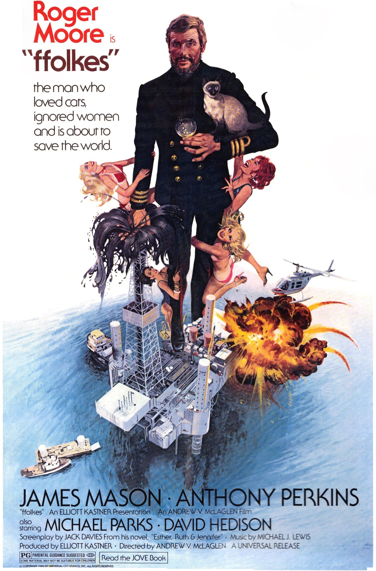 Roger Moore The Saint >> Ffolkes (aka North Sea Hijack) (1979) poster (Restoration ...