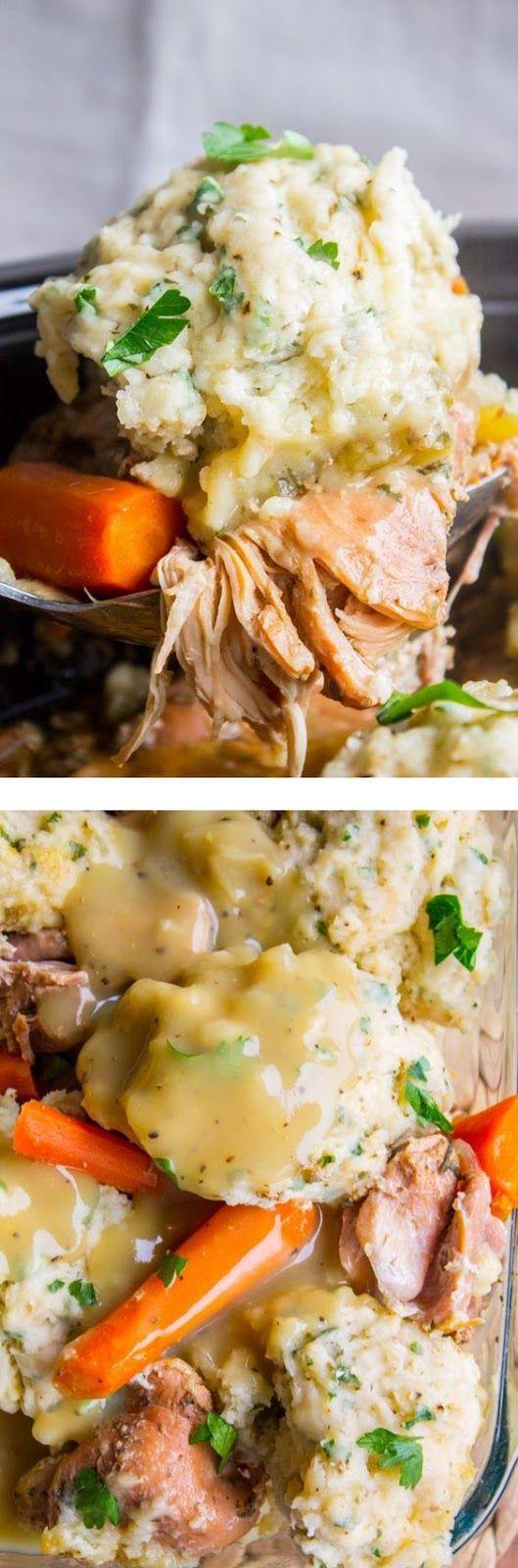 Grandma Georgia's Slow Cooker Chicken and Dumplings #chickendumplingscrockpot