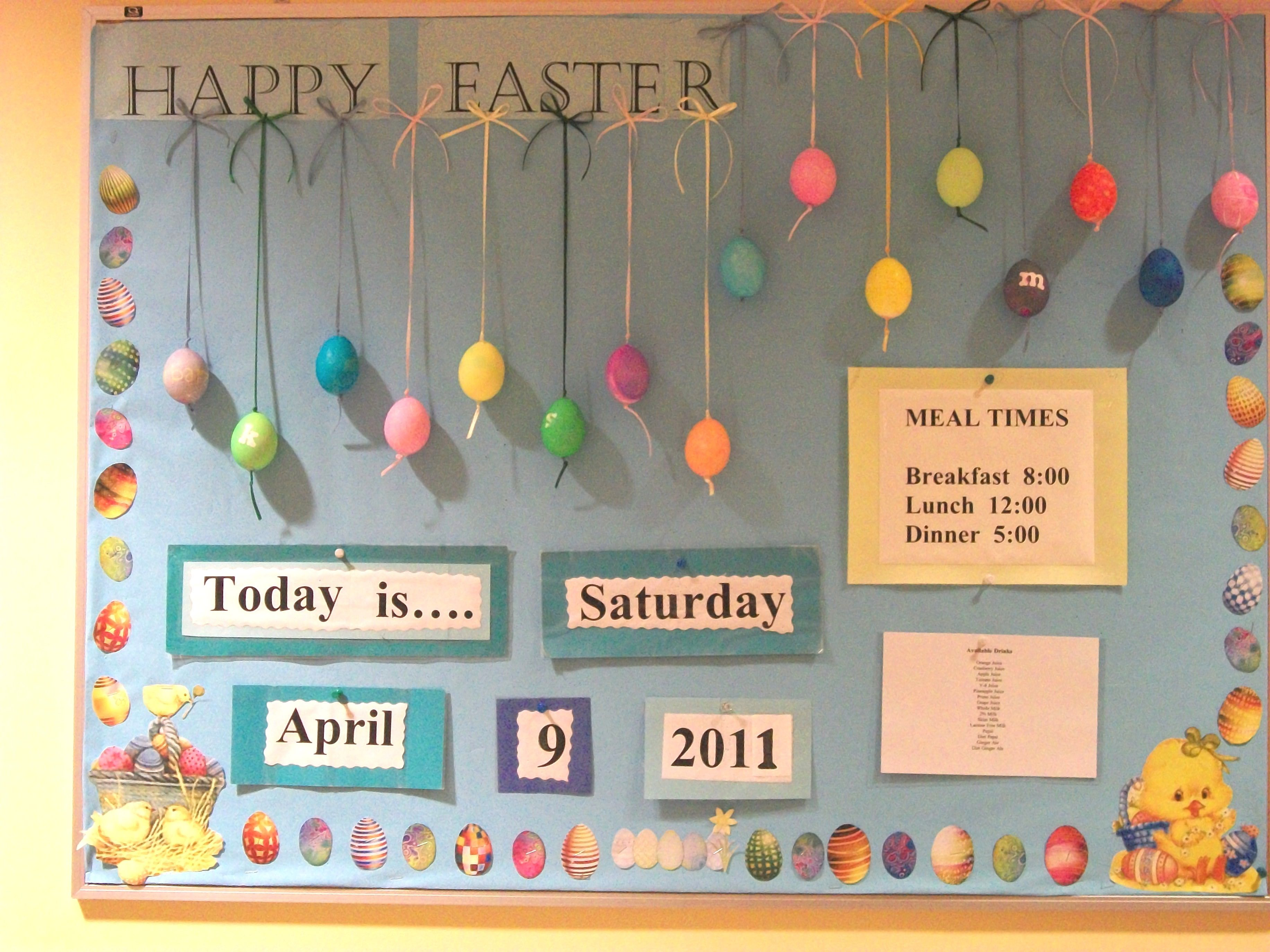 April Easter Bulletin Board This Board Has Real Blown Out Dyed