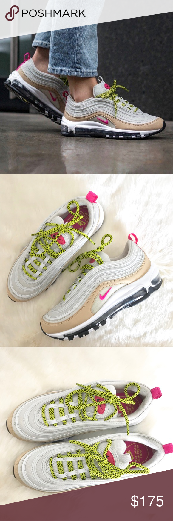 Nike Air Max 97 Light Bone/Deadly Pink Sneakers