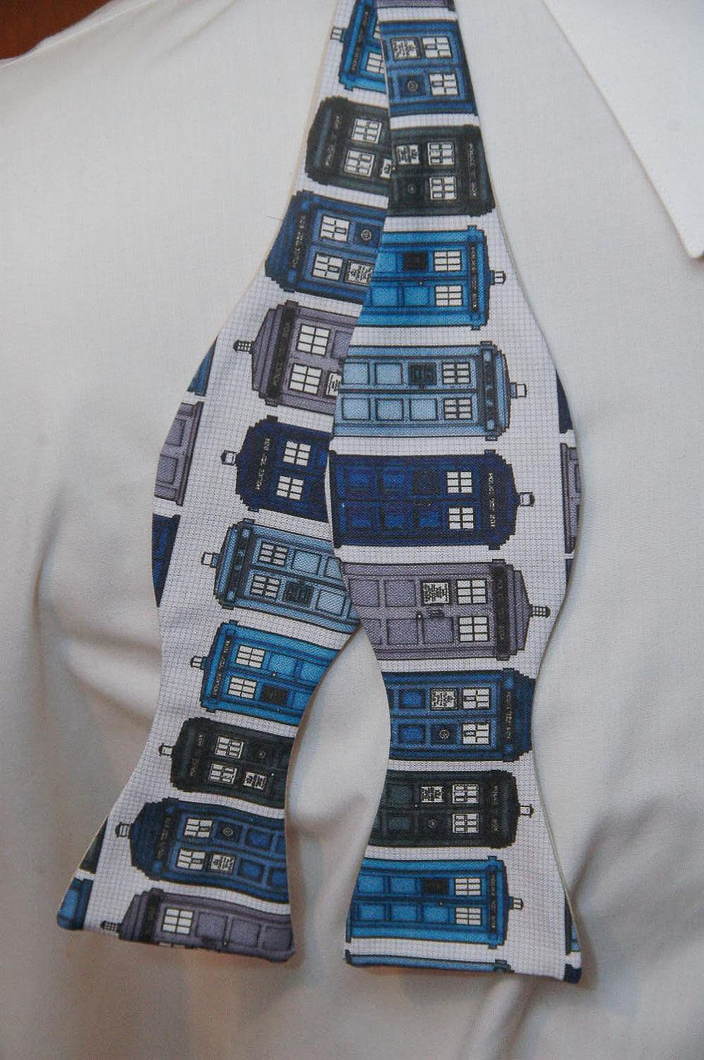 It's a TARDIS bowtie. Your argument is invalid. (I'm a woman, but I'd totally wear this!)