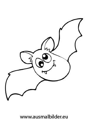 halloween ausmalbilder fledermaus 05 | Coloring Pages * Halloween