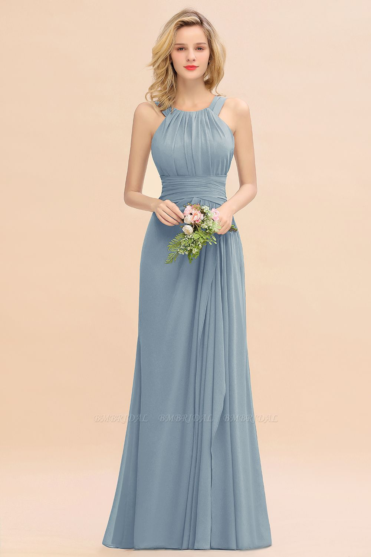 Bmbridal Elegant Round Neck Sleeveless Stormy Bridesmaid Dress With Ruffles Stormy Bridesmaid Dresses Ink Blue Bridesmaid Dresses Bridesmaid Dresses [ 1500 x 1000 Pixel ]