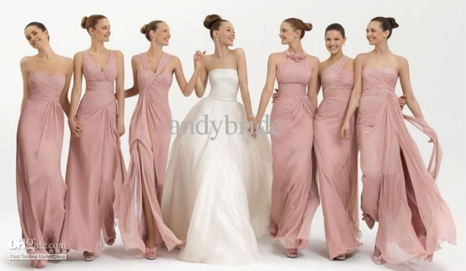 bridesmaid dresses same color different style | Same Color Different ...