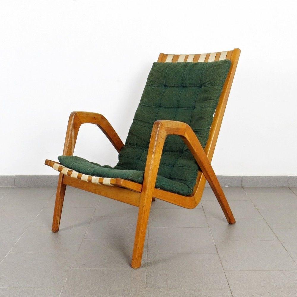 Miniature 1940 S Style Arm Accent Chair: For Sale: Krásná Jizba DP Arm Chair, 1940s