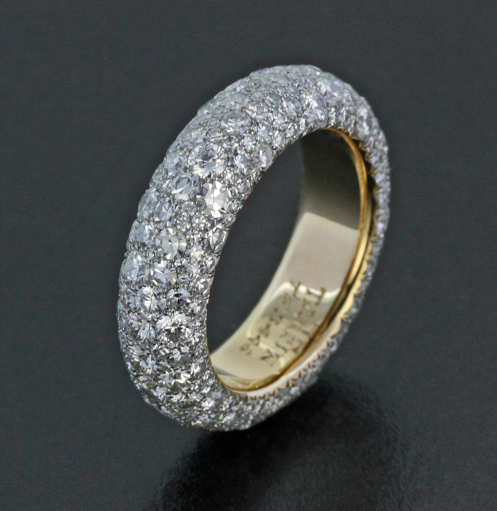 Miadora signature collection 14k white gold 1ct tdw diamond double row - Diamond Platinum And 18k Rose Gold Band By James De Givenchy Taffin Jamesdegivenchy
