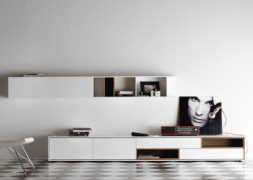 Contemporary Lacquered TV Wall Unit AURA By Angel Martí U0026 Enrique Delamo  TREKU