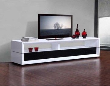 B  Modern Executive TV Stand Contemporary Media Storage