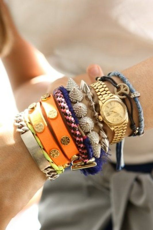 Loving The Layered Bracelet Look For Spring And Summer