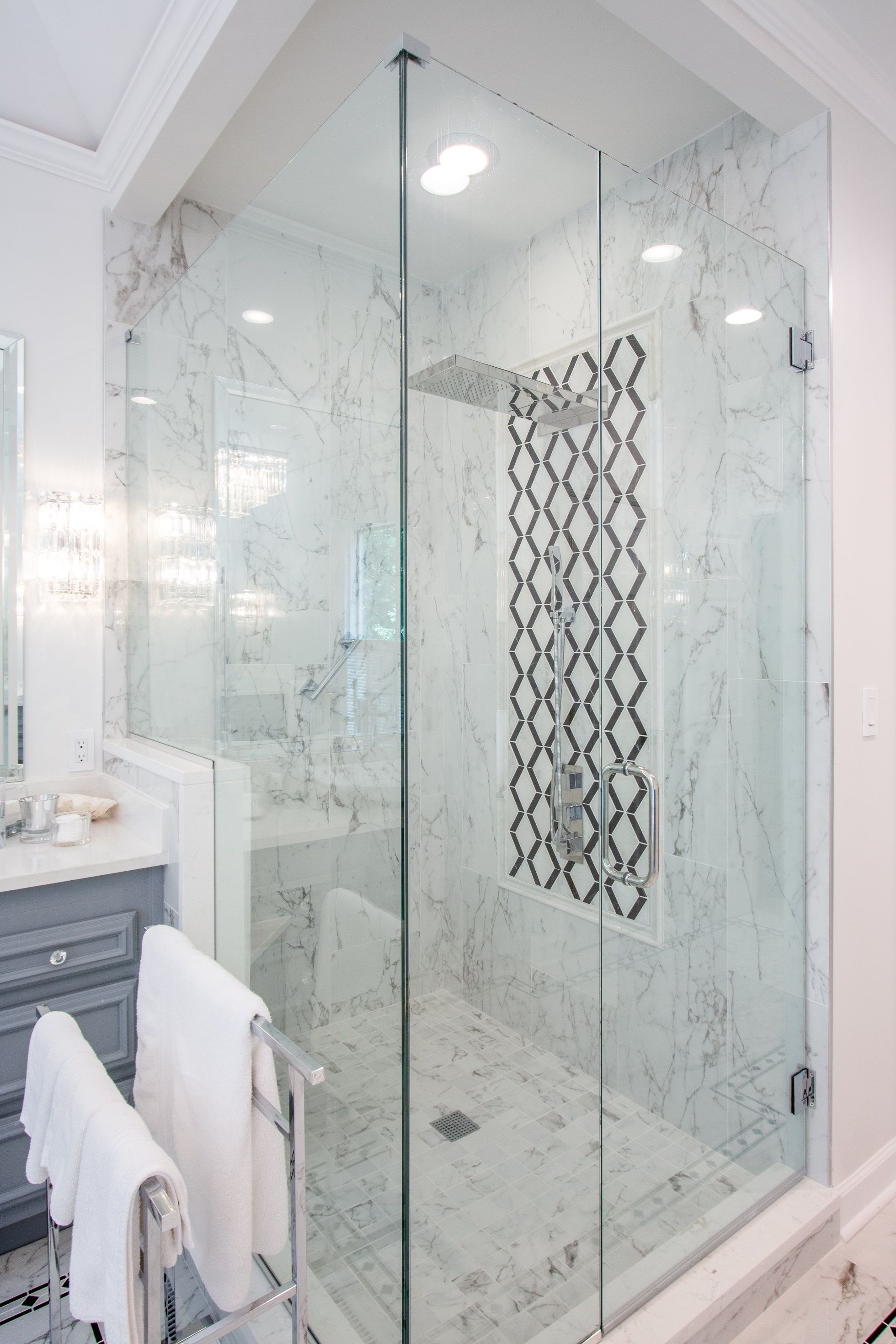 We Love This Sleek Shower Tile Design Get Inspired And Submit Your Photos Via Thetileshop Featured Tempesta Ne Shower Tile Designs Black White Kitchen Room [ jpg ]