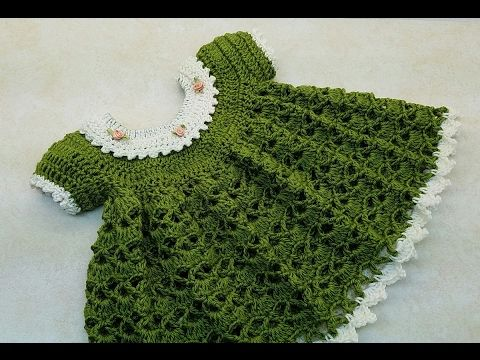 CROCHET How To #Crochet Lil Sprout Baby Dress 0-6 months TUTORIAL ...