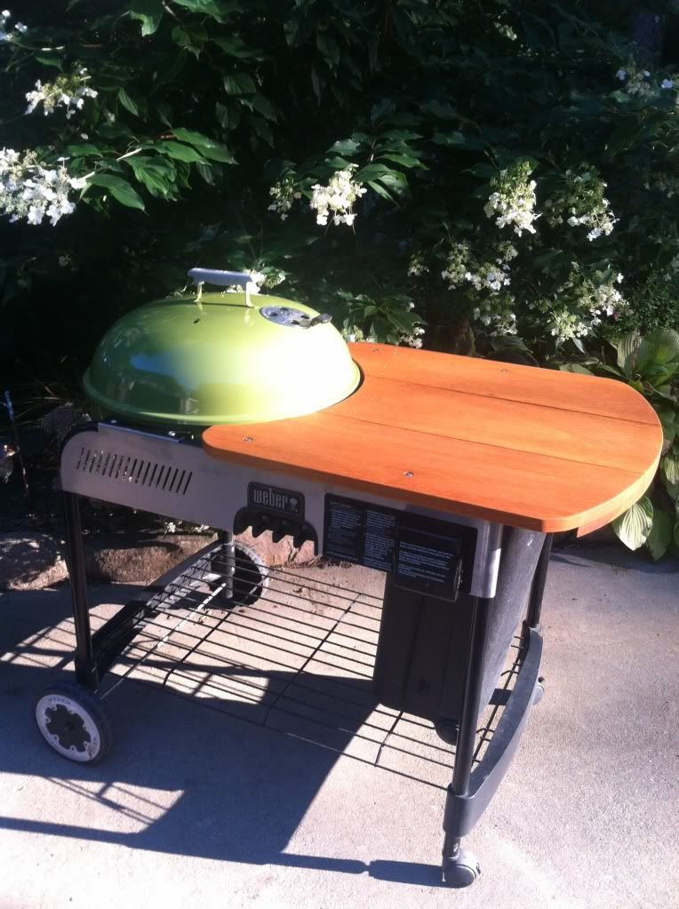 Weber Crate Barrel Performer Wooden Table Mod Grill Table