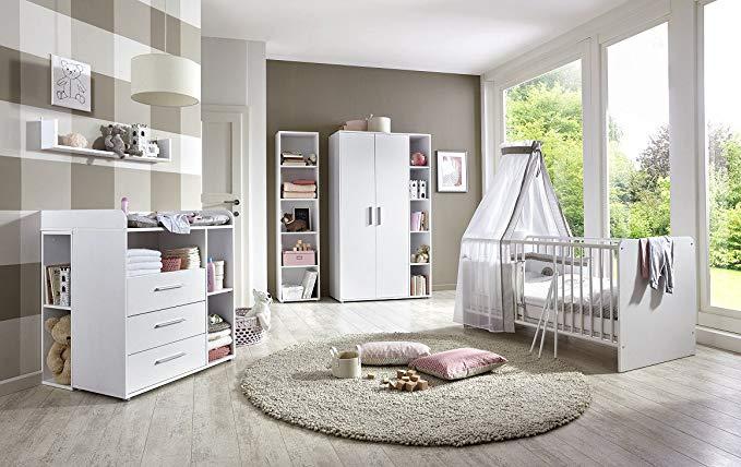 Babyzimmer KIM 4 in weiß. Das Komplettset Babyzimmer