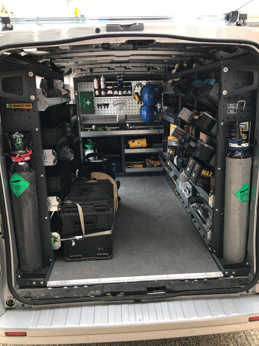 Van Racking Bott Smartvan Storage Solutions Van Racking Work Truck Organization Work Trailer