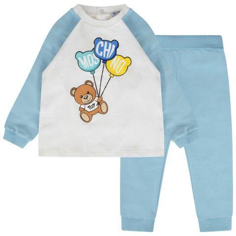 7ce6493f5cf0 Moschino Baby Boys Blue Teddy Bear Tracksuit