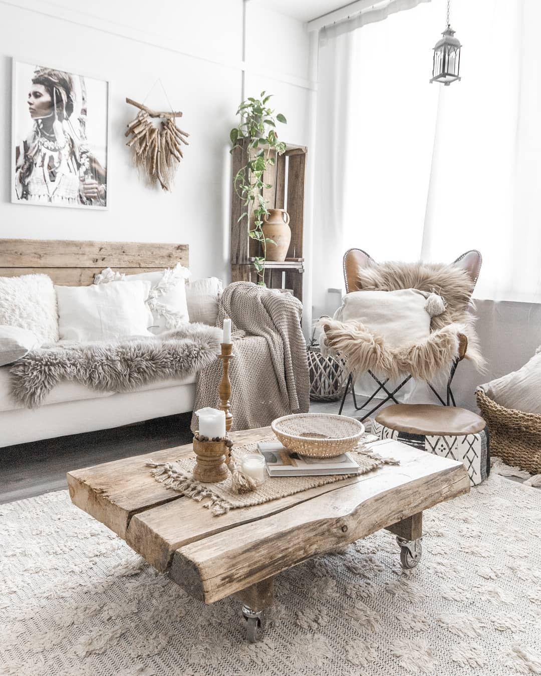 Instagram In 2020 Rustic Chic Living Room Boho Living Room