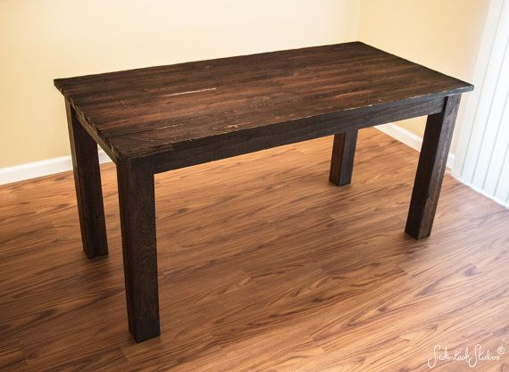 Distressed Amp Rustic Wood Dining Table Dark Espresso