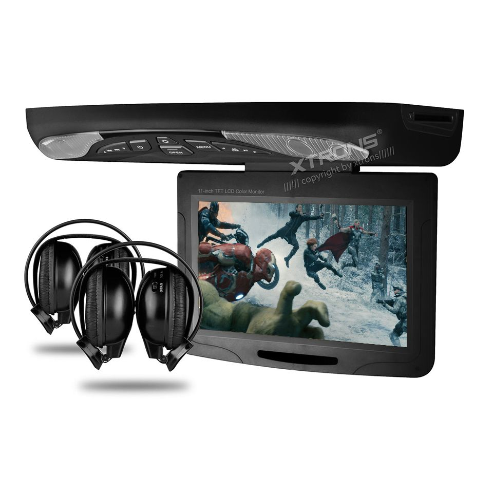 11 3 Car Roof Mounted Dvd Player Drop Down Monitor With 32 Bits Games Ultra Thin Overhead Tft Screen Led Light Ceiling Car With Images Dvd Player Video Player Car Videos