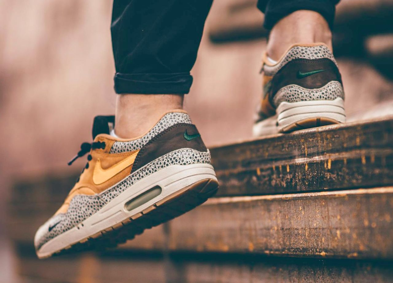 6a7efc33c7 Nike Air Max 1 Atmos 'Safari' (by the5nex) – Sweetsoles – Sneakers, kicks  and trainers. On feet.