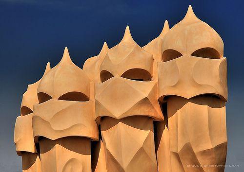 Casa Milà or La Pedrera (The Quarry) Barcelona, Catalonia, Spain by Antoni Gaudí