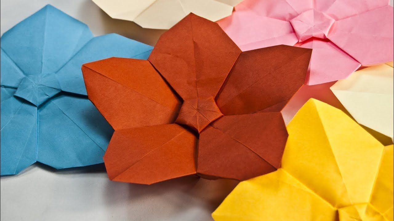How To Make A Paper Flower Easy Origami Flowers Paper Crafts