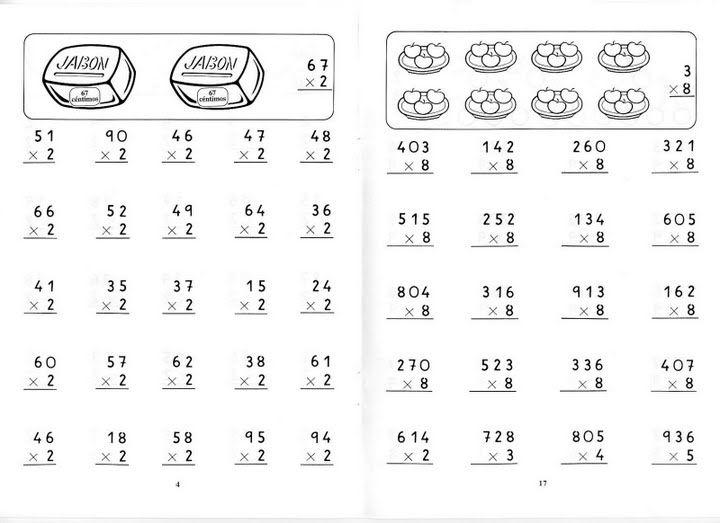 Multiplicaciones Por Una Cifra Fichas Para Niños Multiplicacion Actividades De Multiplicación Fichas De Matematicas