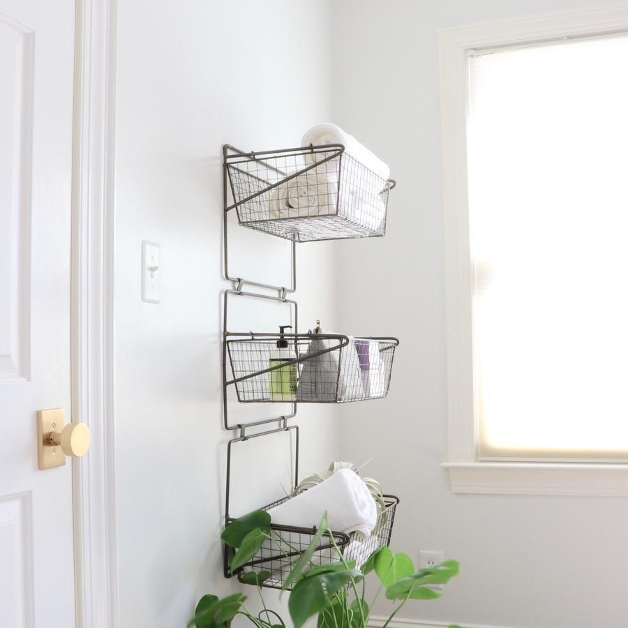 Wire Basket Wall Hanging Organizer