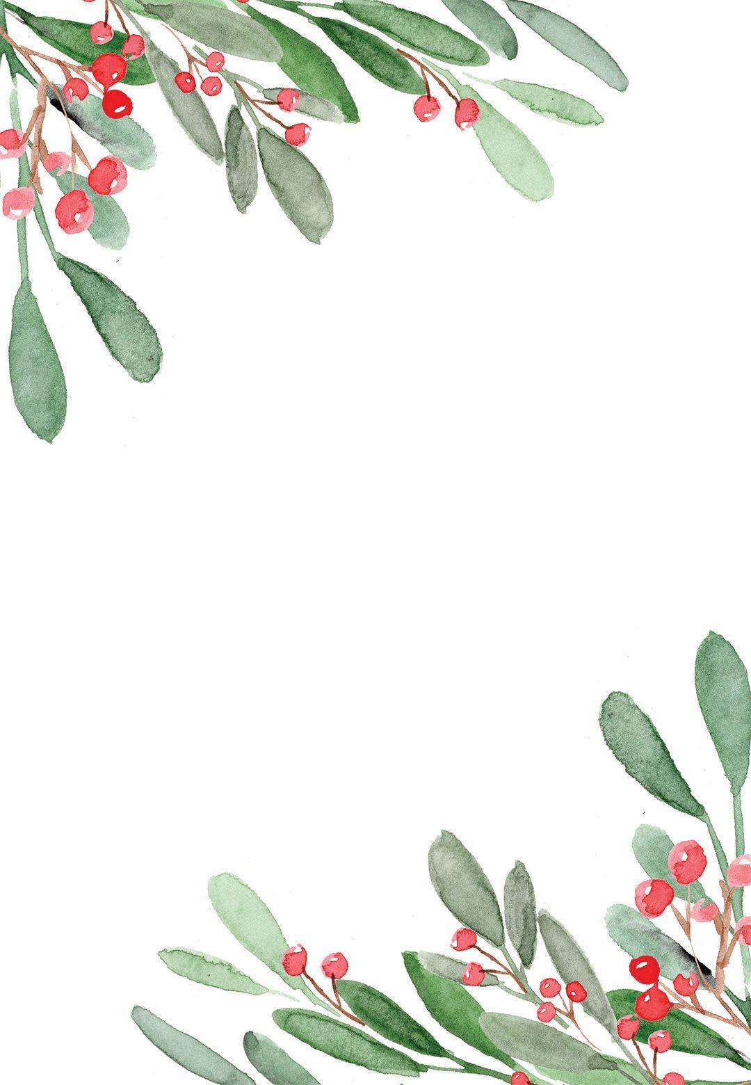 Holidays greenery - Christmas Invitation Template (Free