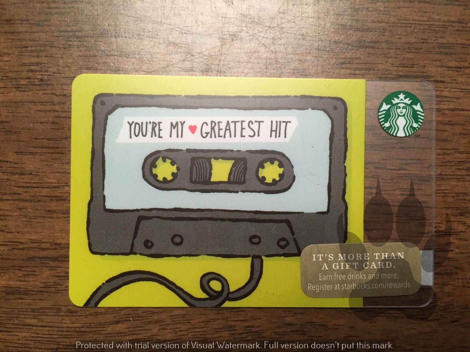 Starbucks gift card 2014 youre my greatest hit cassette