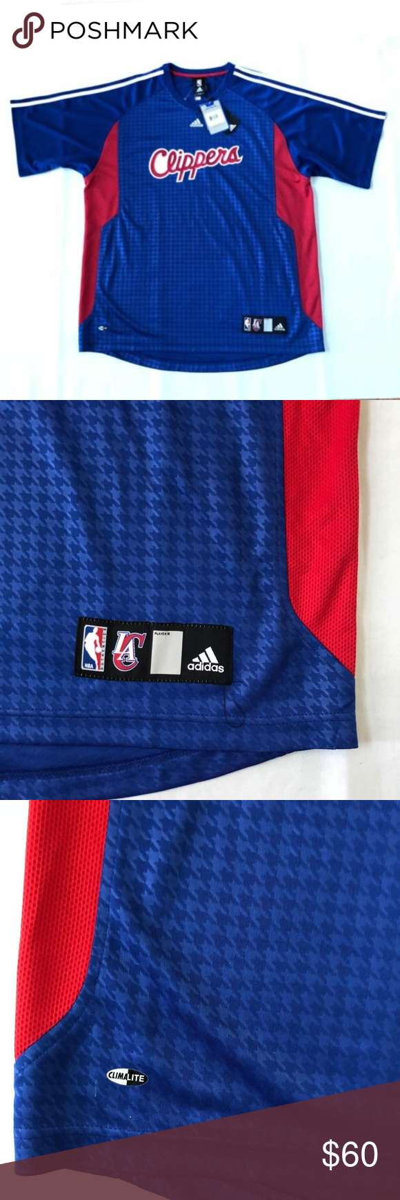 new products 3f669 60710 Adidas Men s Basketball Clippers Tee Shirt Size XL Men s Adidas Los Angeles  LA Clippers NBA Basketball Tee Shirt Short Sleeve Size XL XLarge New with  tag ...