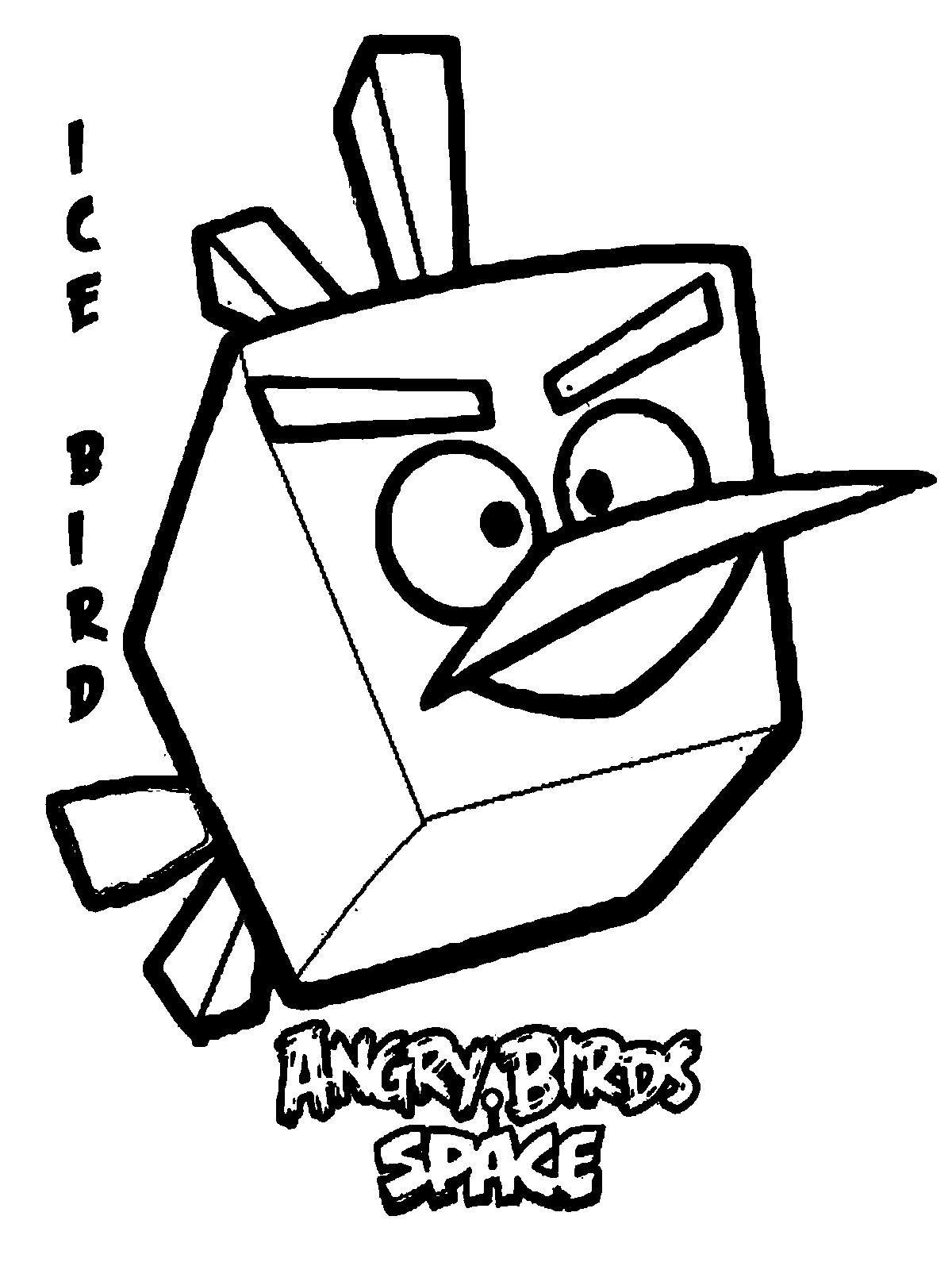 Angry Birds Space Ice Bird Kids Coloring Pages Printable