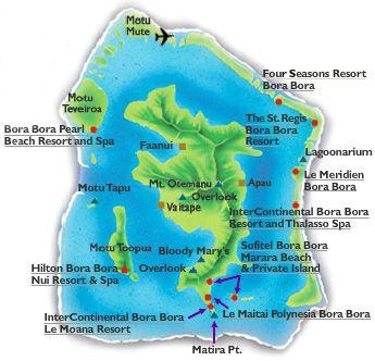 Bora Bora Hotel Map 2018 World S Best Hotels